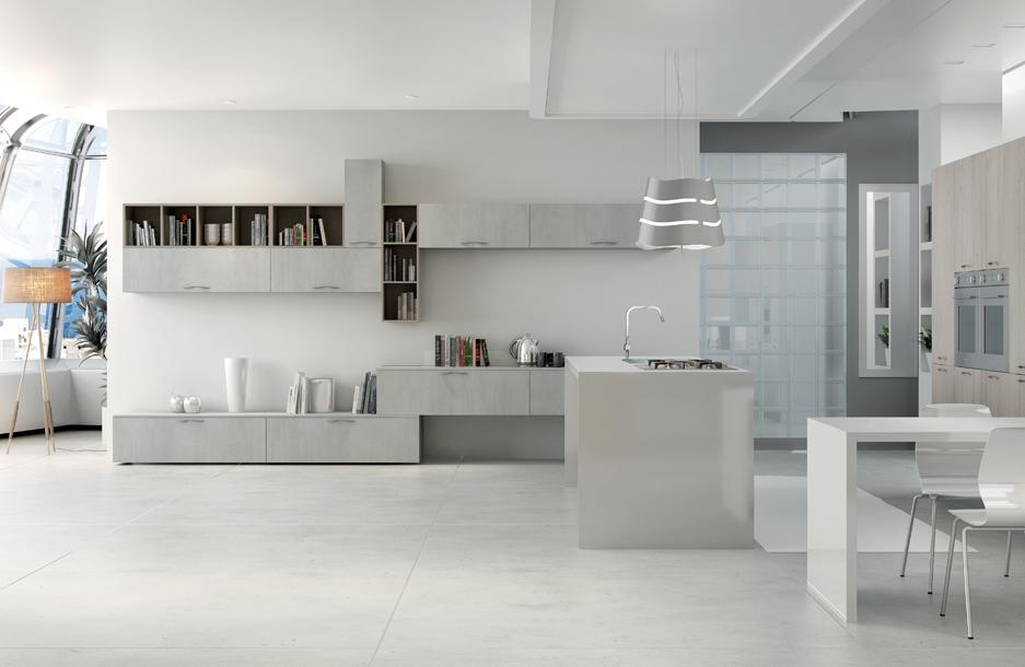 composizione cinque cucina moderna collezione kreativa sanasi cucine brindisi dubai san pancrazio salentino lecce