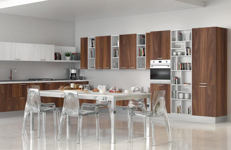composizione quattro cucina moderna collezione kreativa sanasi cucine dubai san pancrazio salentino lecce brindisi