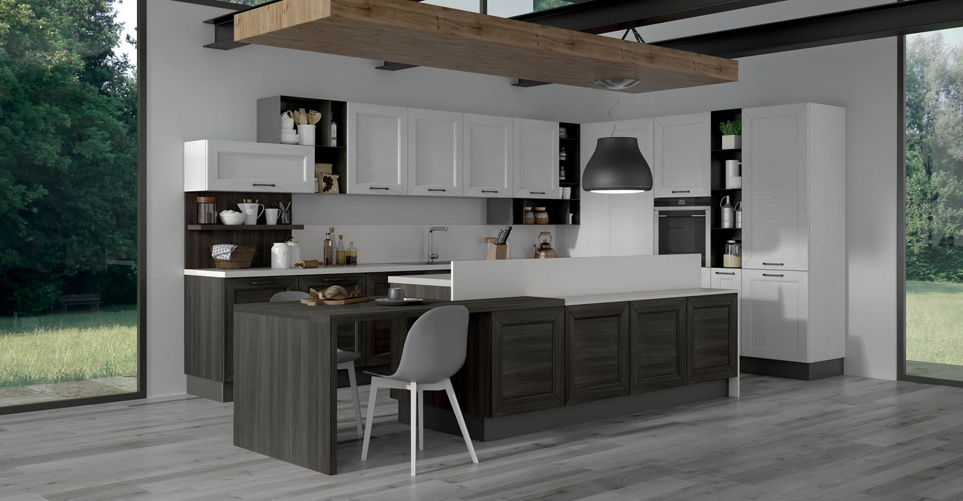 cucina sansi su misura legno divina