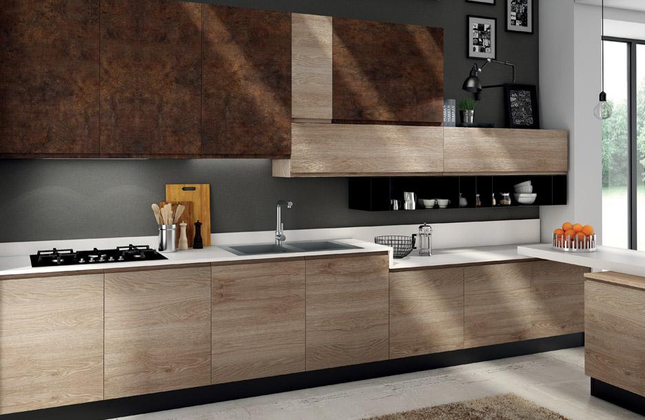 cucina in legno e fenix