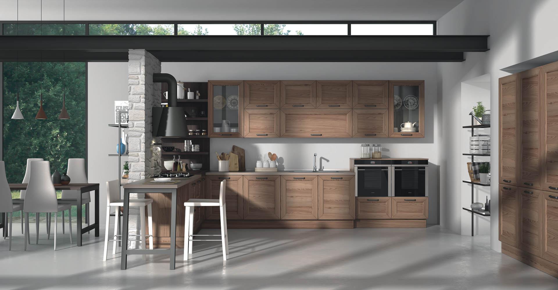 cucina sanasi su misura in legno collezione contemporaneo modello divina